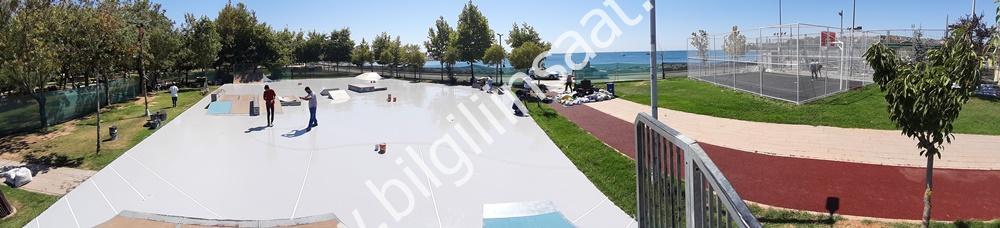 Kalamış Parkı Kaykay ve Basketbol Sahası Yapım Projesi